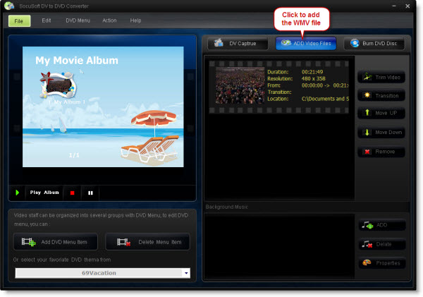 MSWMM to AVI MP4 konvertieren, MSWMM auf DVD brennen