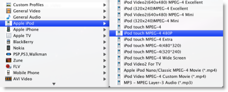 Convert MTS to iPod on Mac