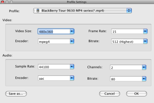 Mac DVD to BlackBerry Converter