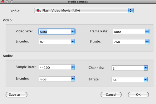 Convert MTS to FLV on Mac