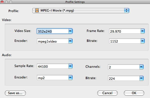 Convert M4V to MPG on Mac