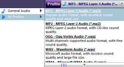 convert to mp3 audio