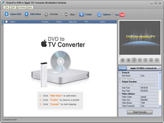 Click to view Clone2Go DVD to Apple TV Converter 2.5.0 screenshot