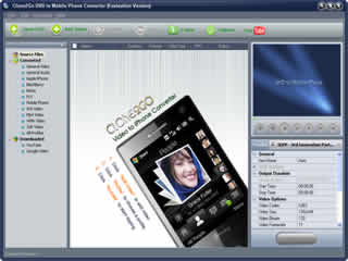 Click to view Clone2Go DVD to Mobile Phone Converter 2.5.0 screenshot