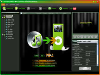 Click to view Clone2Go DVD to MP4 Converter 2.5.0 screenshot