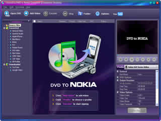 Click to view Clone2Go DVD to Nokia Converter 2.5.0 screenshot