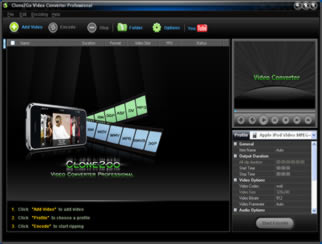 Click to view Clone2Go Video Converter Professional 2.7.0 screenshot