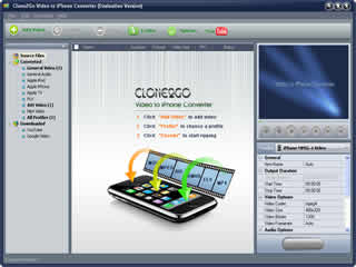 Click to view Clone2Go Video to iPhone Converter 2.1.0 screenshot
