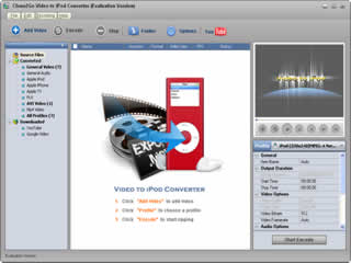 Click to view Clone2Go Video to iPod Converter 2.5.0 screenshot
