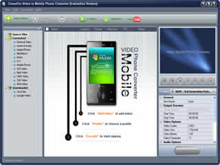 Clone2Go Video to Mobile Phone Converter screenshot