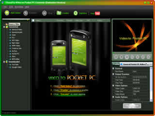 Click to view Clone2Go Video to Pocket PC Converter 2.1.0 screenshot