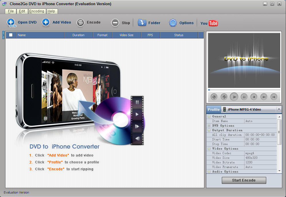 Clone2go dvd to iphone converter 1.9.2