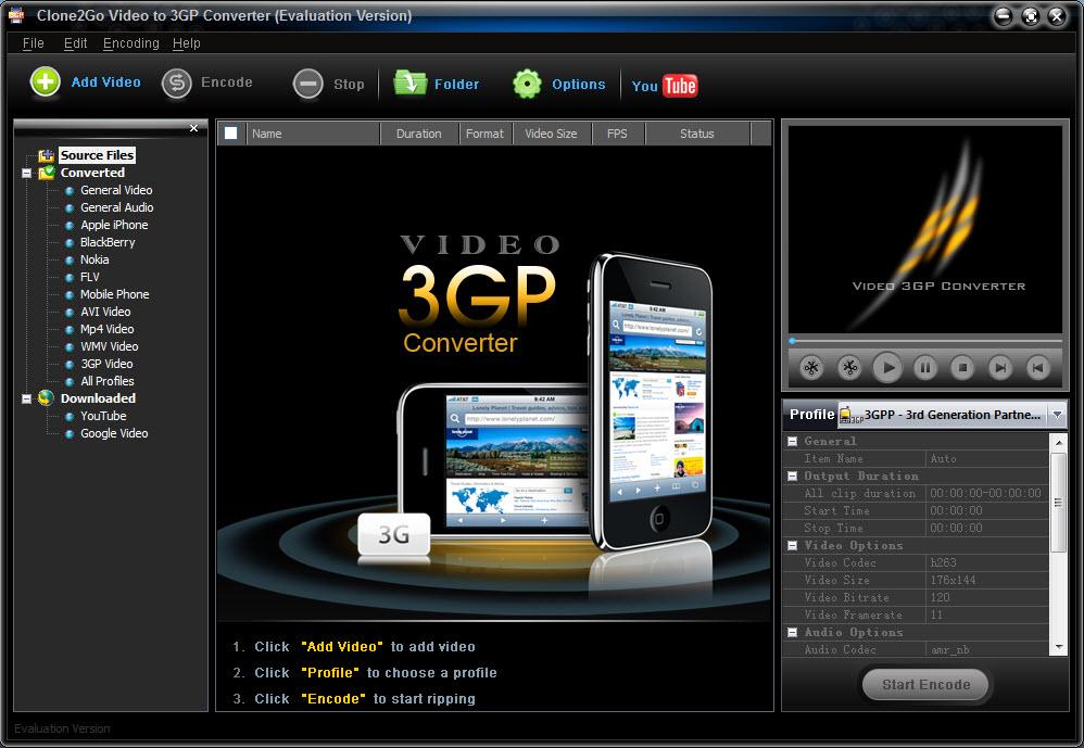 logiciel convertir video 3gpp