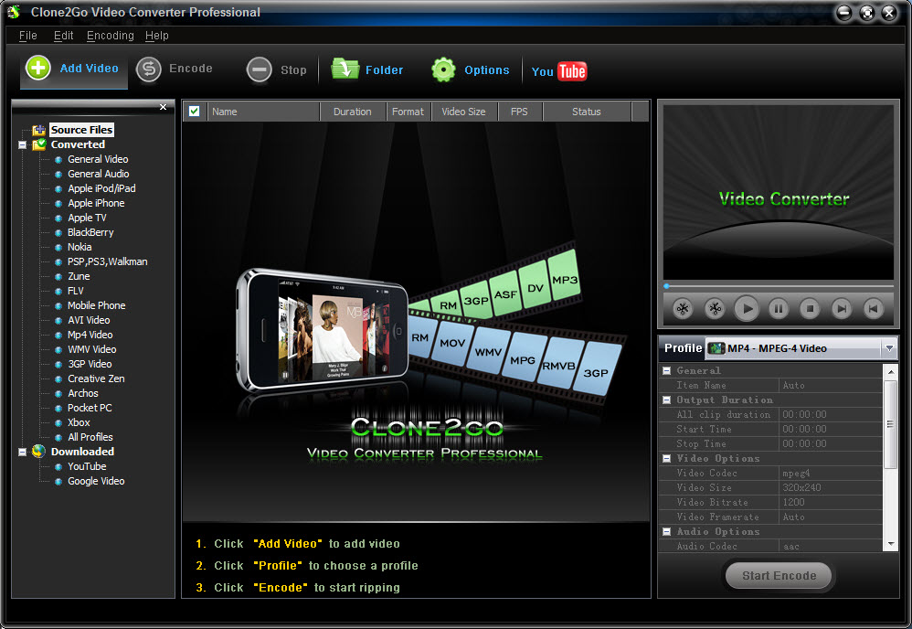 Clone2Go Video Converter Professional 1.9.1